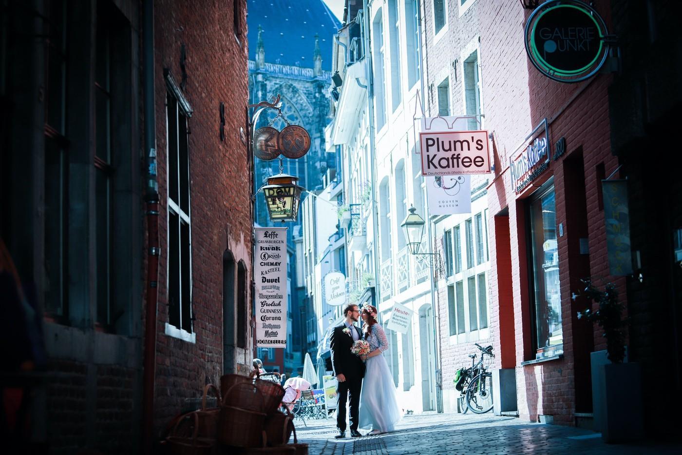 Hochzeitsshooting in Aachen City